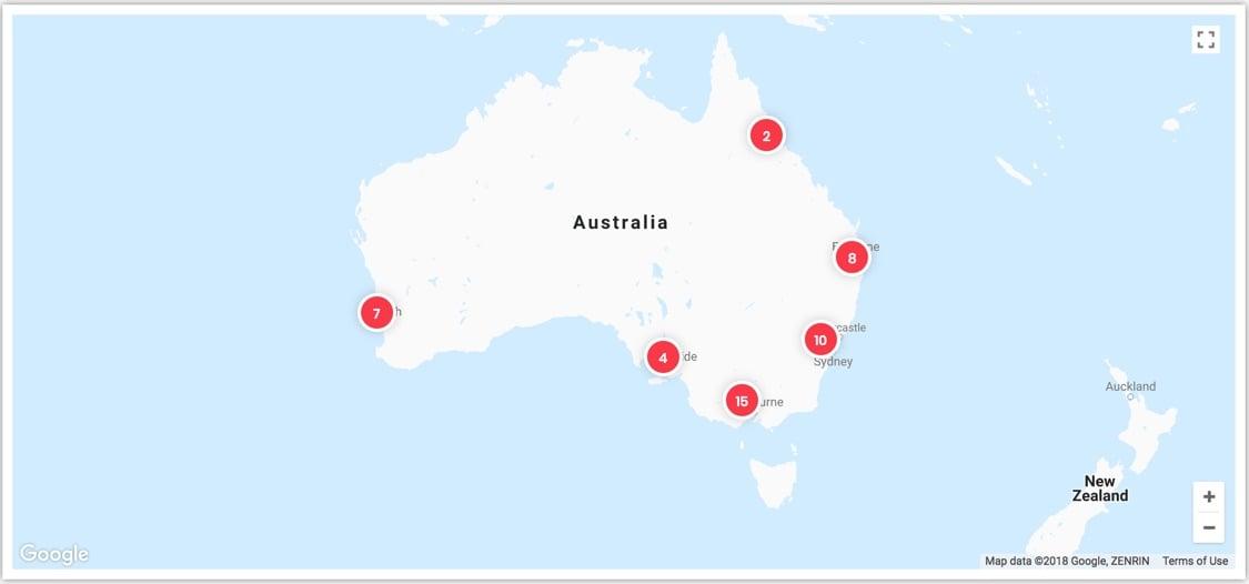 Screenshot from findbitcoinatm.com.au