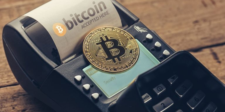 paying with Bitcoin debit card